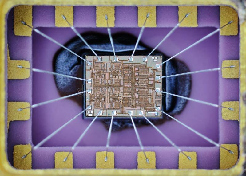 Ekstremum zamknięty silikonowy mikro układ scalony up zdjęcia royalty free