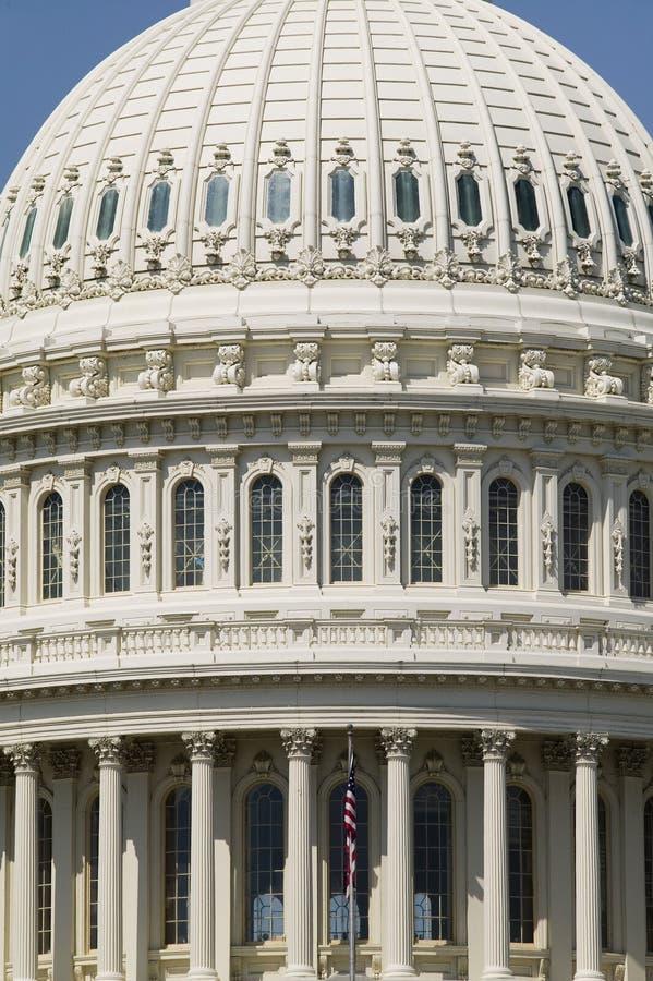 Ekstremum zamknięty U up S Capitol kopuła w Waszyngtońskim d C zdjęcia stock