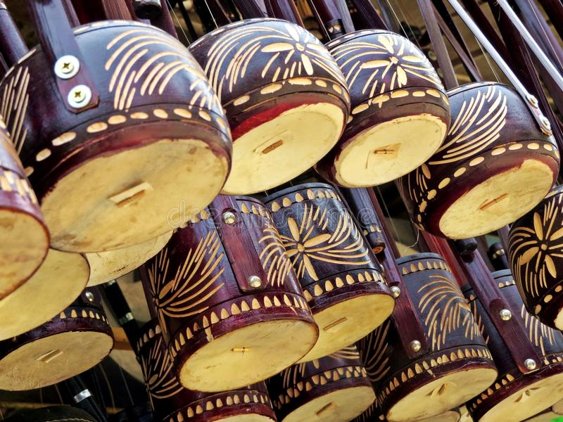Ektara, instrumento de música local, Kushtia, Bangladesh foto de stock royalty free