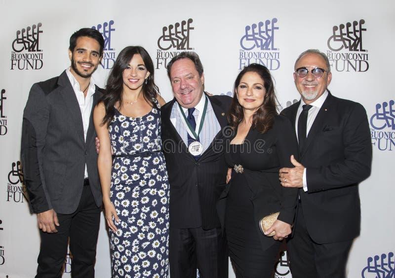 Ektor Rivera, Ana Villafane, James L Nederlander, Gloria Estefan & Emilio, Estefan zdjęcie stock