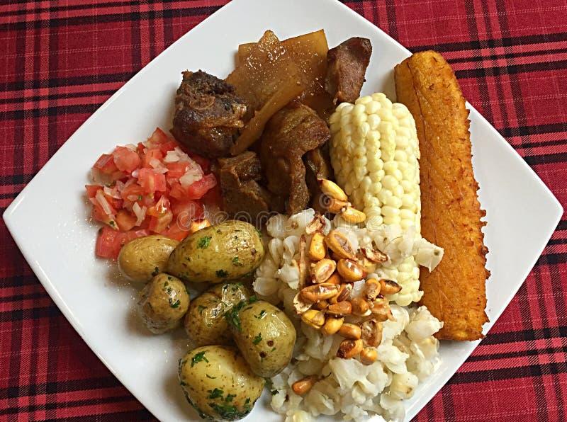 Ekuadorianisches Lebensmittel lizenzfreie stockfotografie