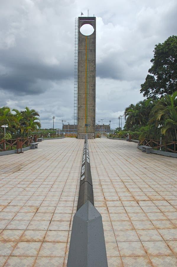 Ekvatorn fodrar royaltyfria bilder