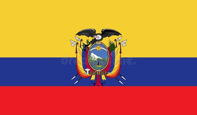Ekwador flaga wizerunek ilustracja wektor