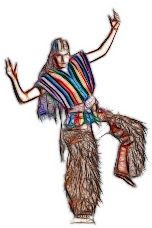 Ekwadorski krajowy kostium royalty ilustracja