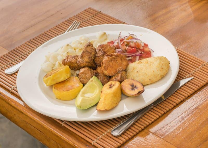 Ekwadorski Typowy jedzenie fotografia royalty free