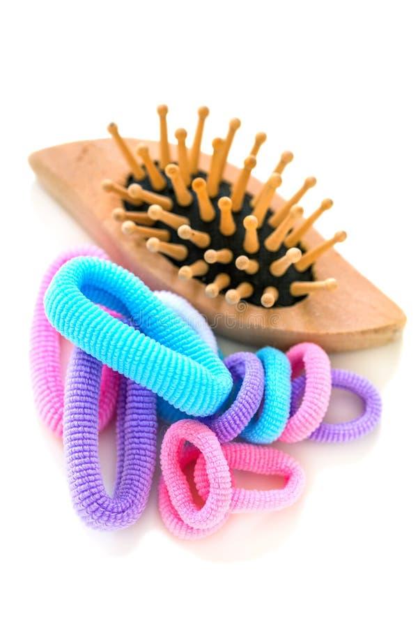 Elásticos coloridos para o cabelo fotos de stock