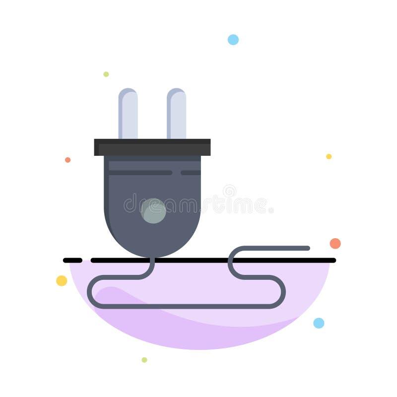 Elétrico, energia, tomada, fonte de alimentação, negócio Logo Template cor lisa ilustração do vetor