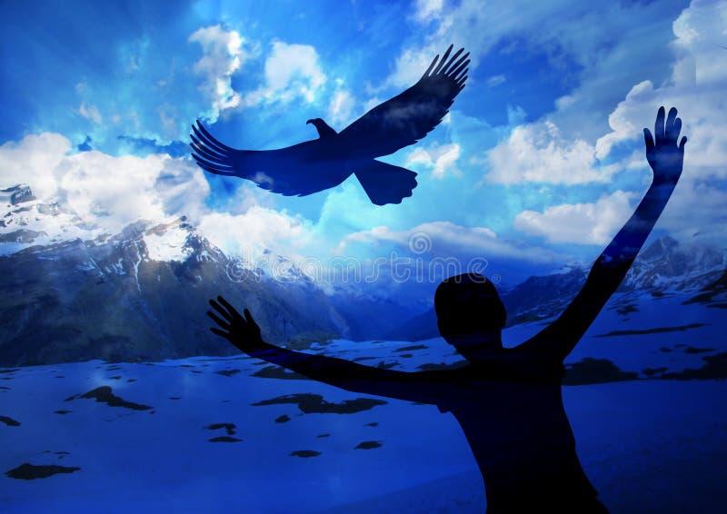 Elévese como un águila imágenes de archivo libres de regalías