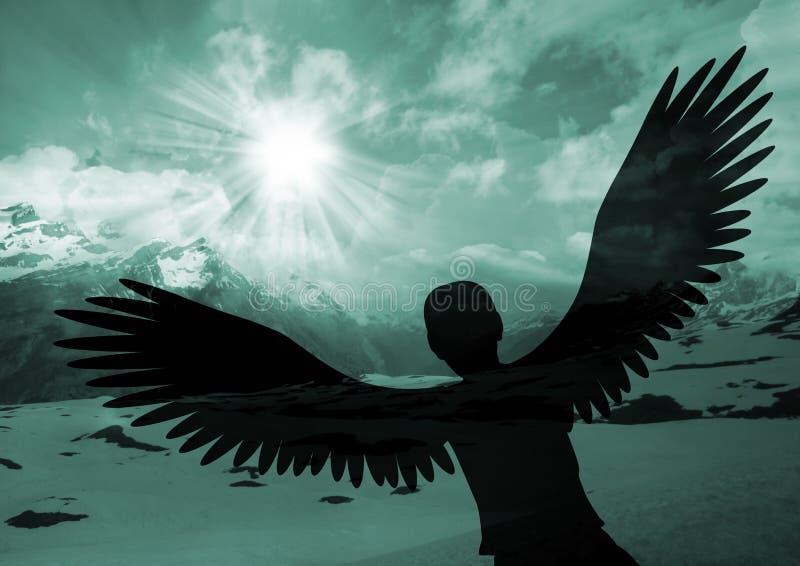 Elévese como un águila fotografía de archivo libre de regalías