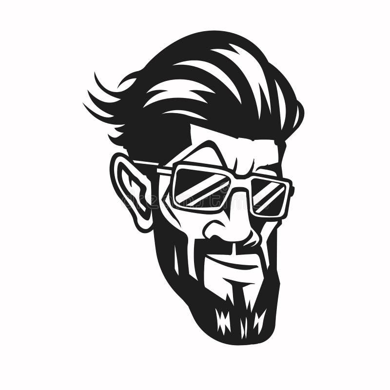 Elógio novo com penteado ilustração do vetor