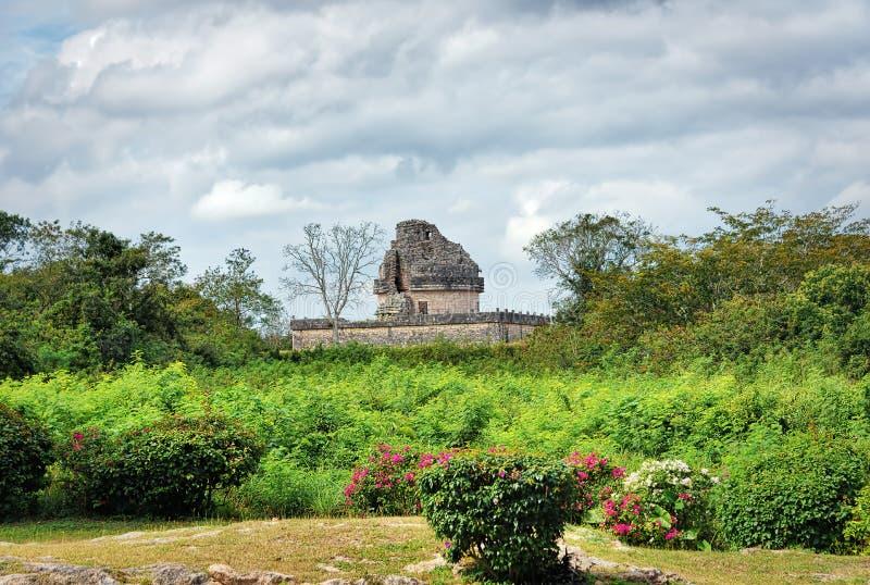 El卡拉科尔观测所寺庙,奇琴伊察,墨西哥 免版税库存图片