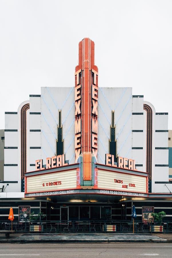 El真正的Tex-Mex咖啡馆,在蒙特罗斯,休斯敦,得克萨斯 库存照片