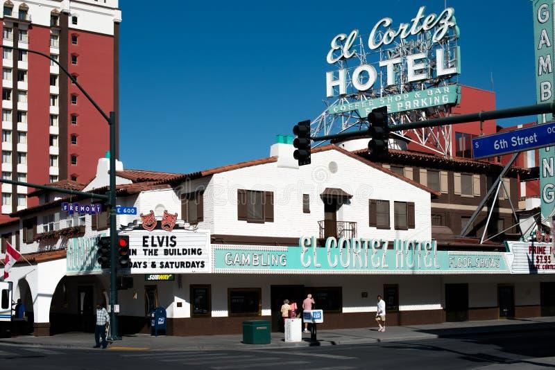 El科尔特斯旅馆和赌博娱乐场在拉斯维加斯 免版税库存图片