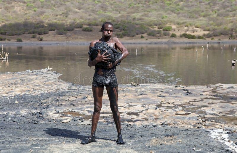 El草皮火山口湖埃塞俄比亚 免版税库存图片