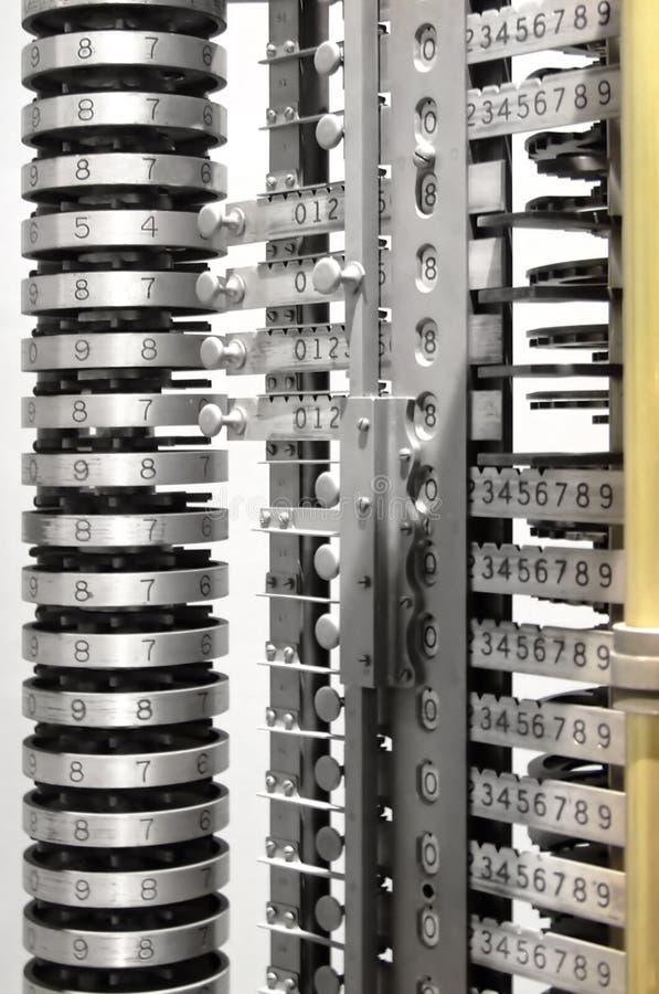El ábaco numera la torre fotos de archivo