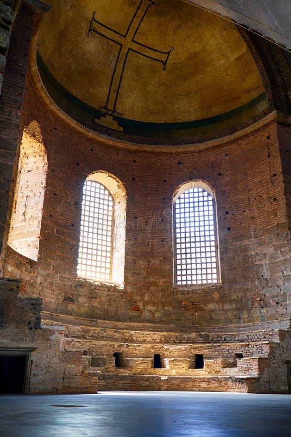 El ábside (altar) de la iglesia de Hagia Irene, Estambul fotografía de archivo libre de regalías
