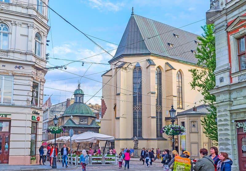 El ábside de la catedral del latín de Lvov foto de archivo libre de regalías