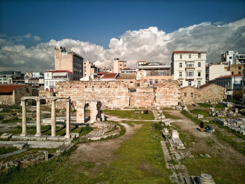 el ágora antiguo de Atenas fotos de archivo libres de regalías