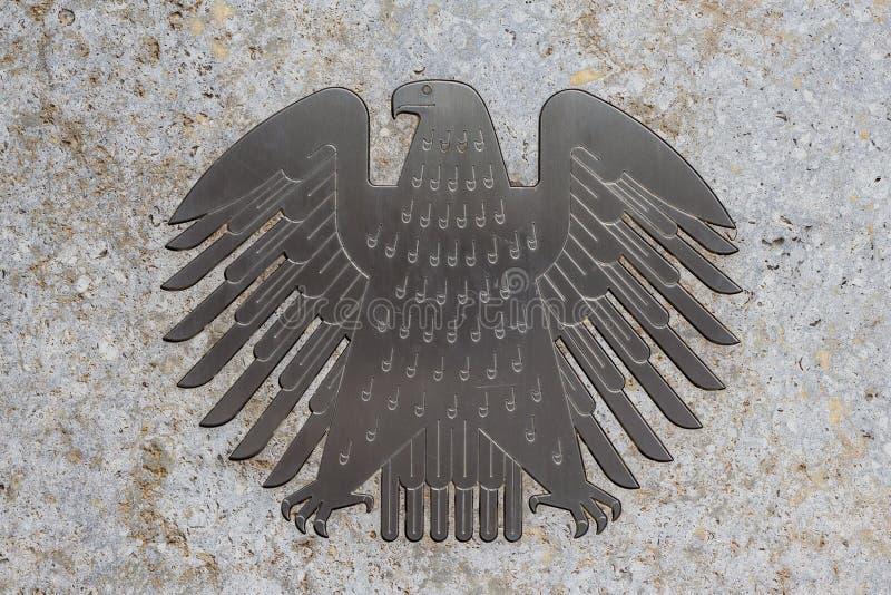 El águila alemana (Bundesadler), el logotipo del Parlamento alemán alemán fotos de archivo
