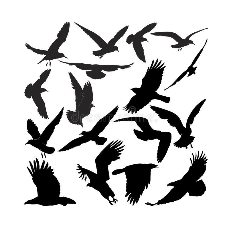 El águila del halcón del cuervo gulls el cuervo libre illustration