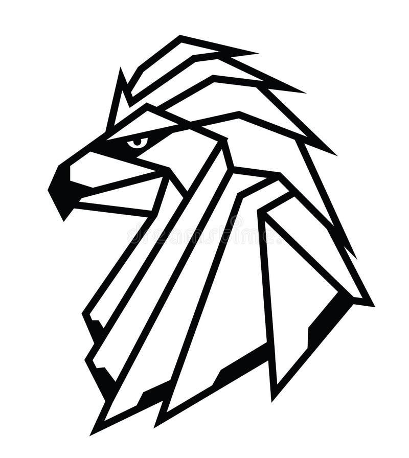 El águila geométrica abstracta va al corte del laser ilustración del vector