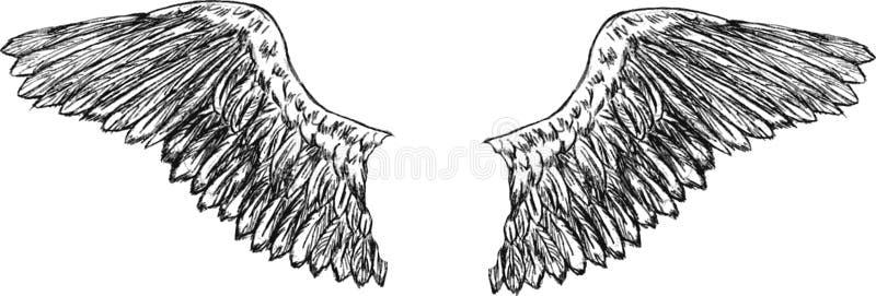 El águila se va volando vector ilustración del vector