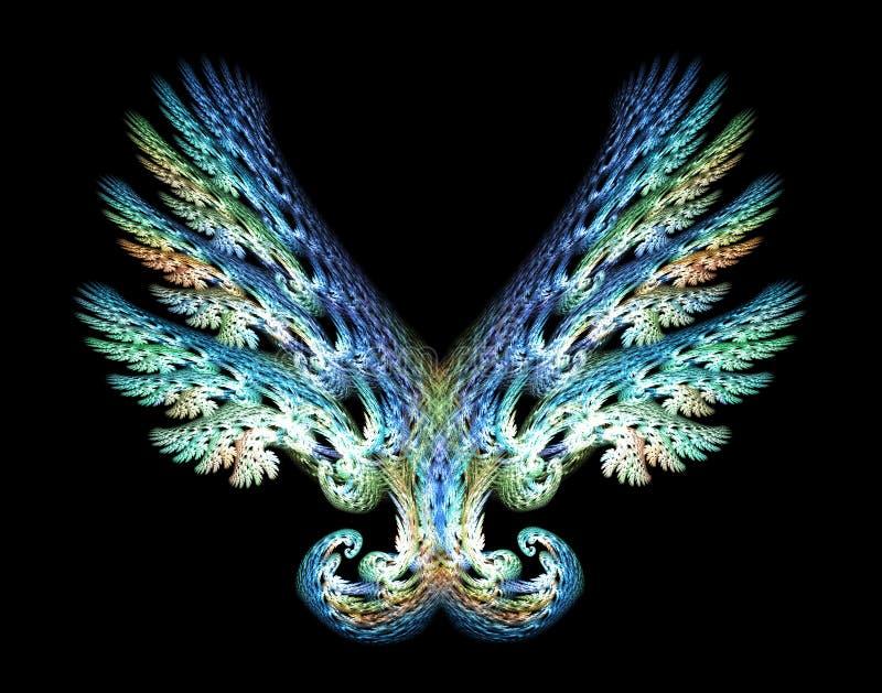 El ángel se va volando el emblema sobre negro libre illustration