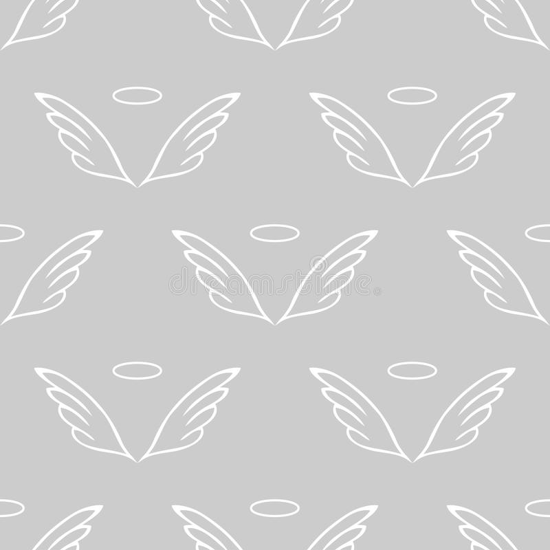 El ángel se va volando el modelo gris del bosquejo stock de ilustración