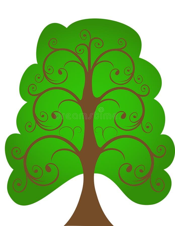 El árbol a cielo abierto. ilustración del vector
