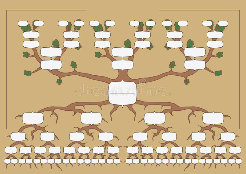 El árbol de familia libre illustration