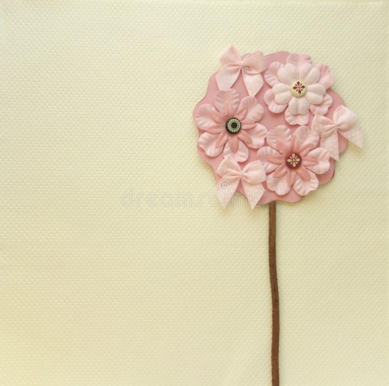El árbol de la flor le agradece cardar stock de ilustración