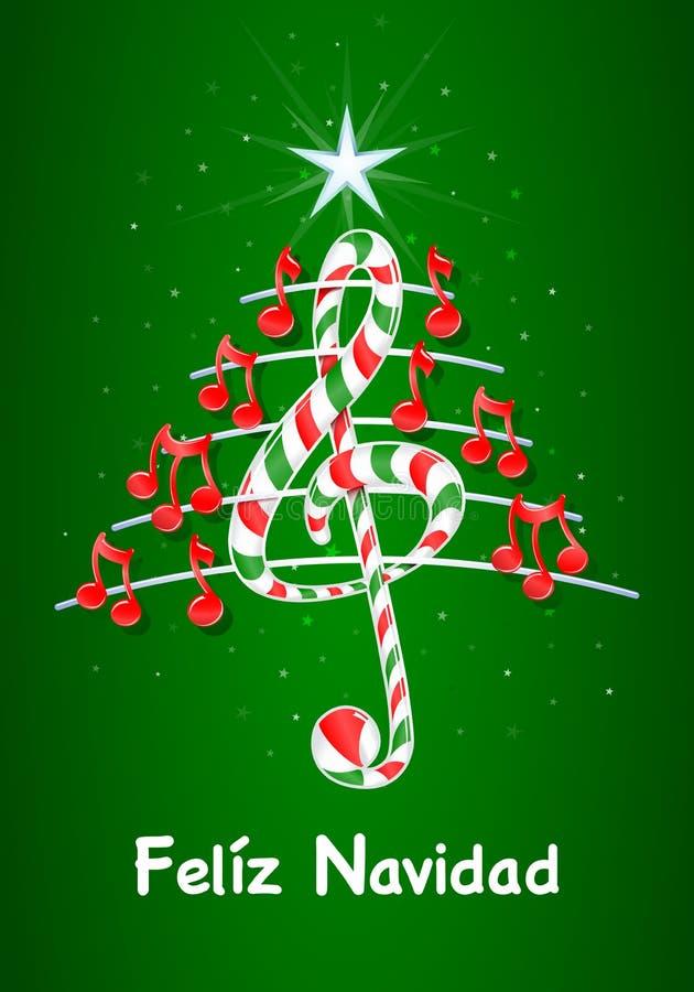 El árbol De Navidad Hecho De Notas Musicales Rojas, Barra Del ...