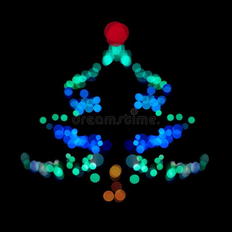 El árbol De Navidad Hizo Luces Del Bokeh Del ââof Imagen de archivo libre de regalías