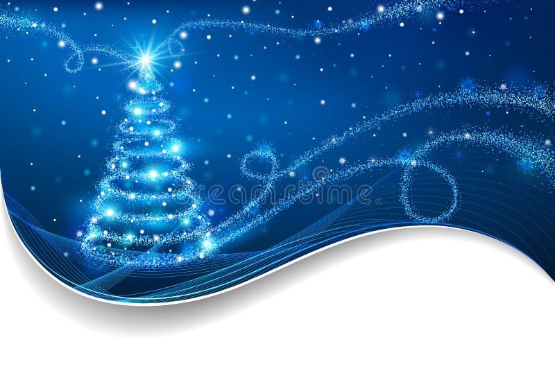 El árbol de navidad mágico stock de ilustración