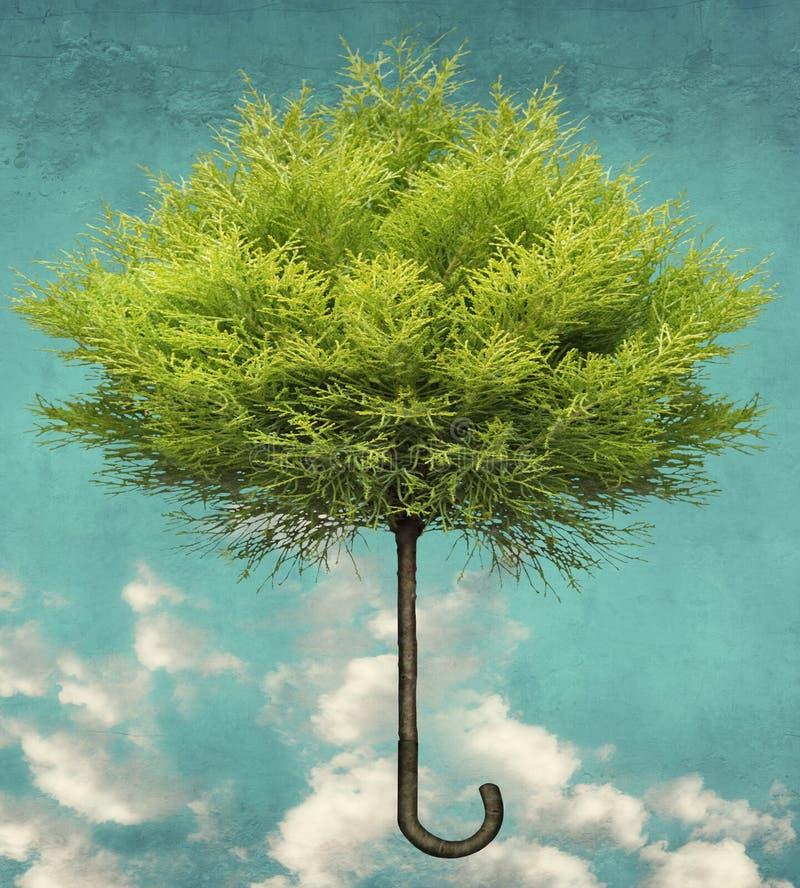 El árbol de paraguas libre illustration