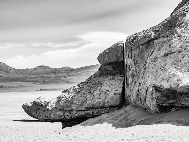 El árbol de piedra de Arbol de Piedra es una formación de roca aislada en Bolivia imagen de archivo