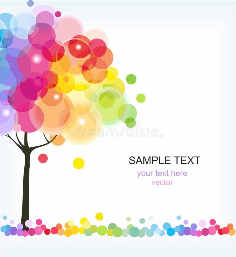 El árbol del arco iris imagenes de archivo