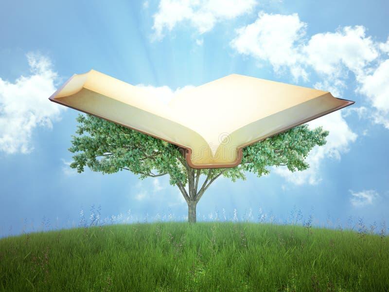 El árbol del conocimiento ilustración del vector