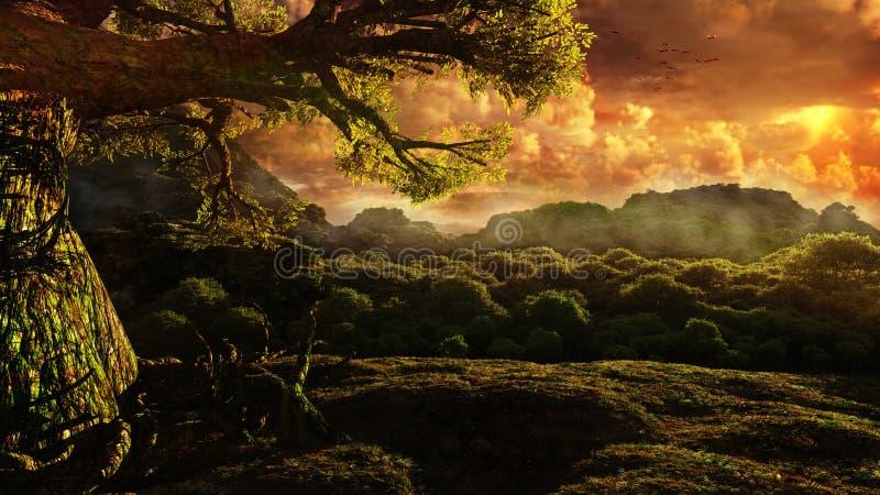 El árbol solo libre illustration