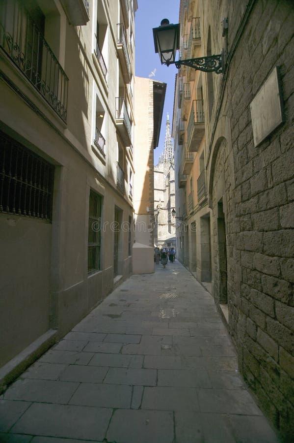 El área de Barcelona Barri Gotic también se conoce como el cuarto gótico, España foto de archivo