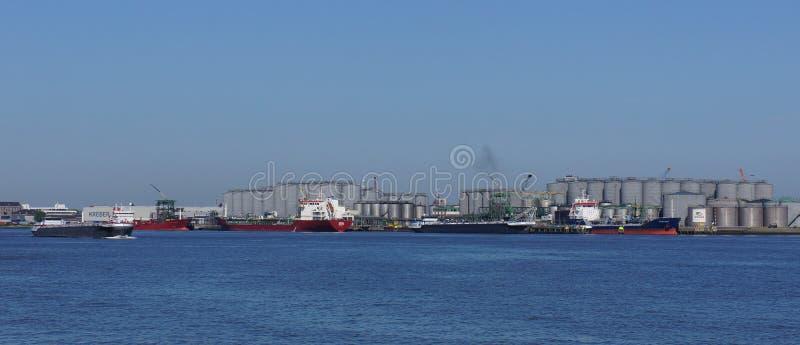 El área industrial llamó Deltagebied en Vlaardingen, parte del puerto de Rotterdam foto de archivo