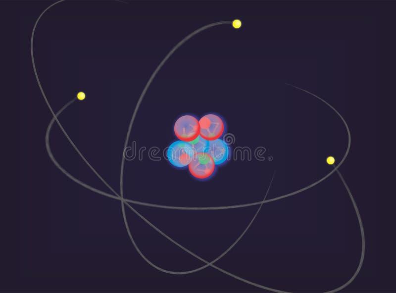 El átomo y sus quarks fotografía de archivo libre de regalías