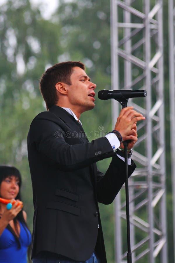 """El †de Stanislav Piatrasovich Piekha (Stas Piekha)"""" es cantante y actor popular ruso, y el nieto de Edita Piekha foto de archivo"""