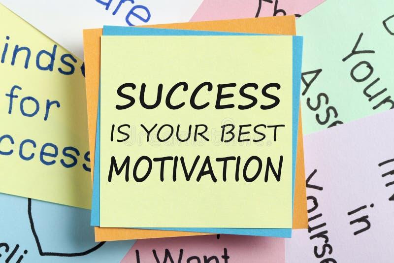 El éxito es su mejor concepto de la motivación fotos de archivo