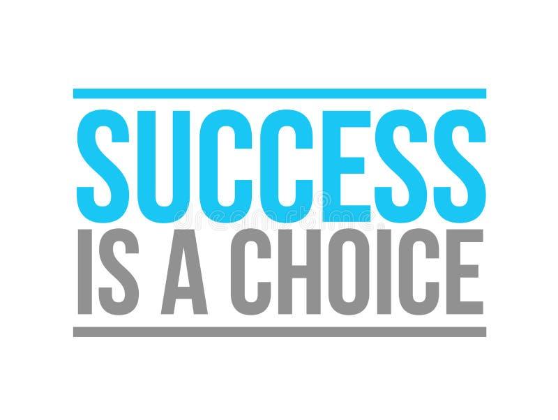 el éxito es un concepto bien escogido de la muestra del texto stock de ilustración