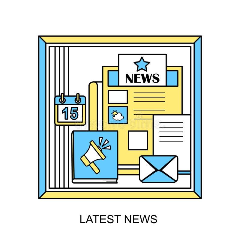El último concepto de las noticias stock de ilustración