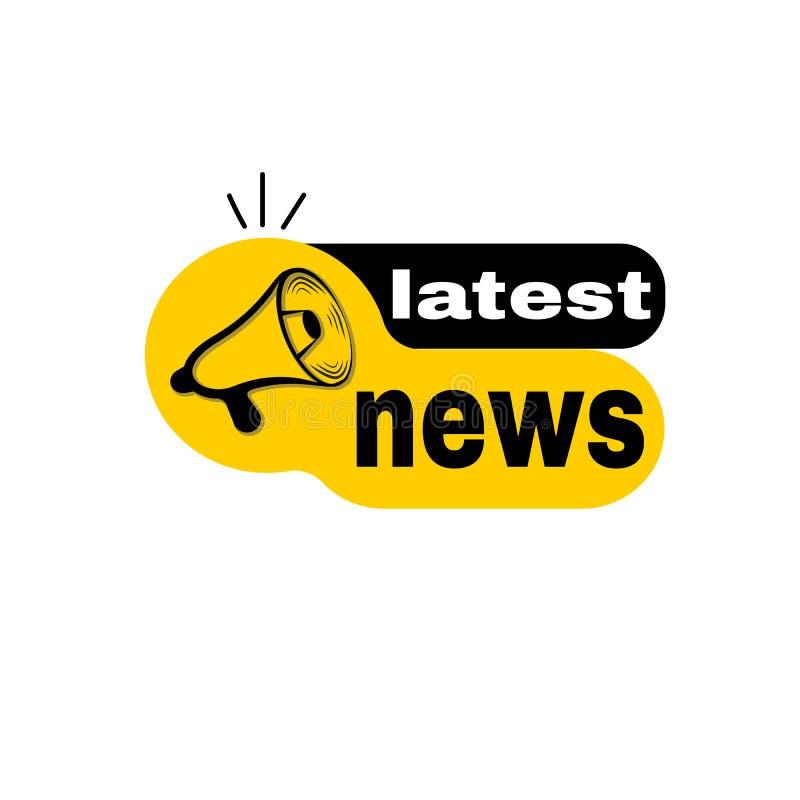 El último megáfono de las noticias ilustración del vector