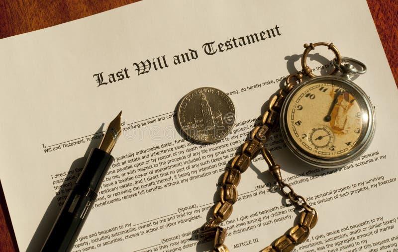 El último y testamento imagen de archivo