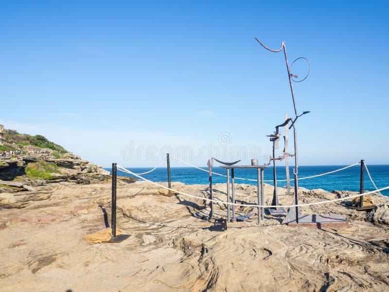 El 'estudio 'es ilustraciones esculturales de Orest Keywan en la escultura por los acontecimientos anuales del mar libres al públ fotos de archivo