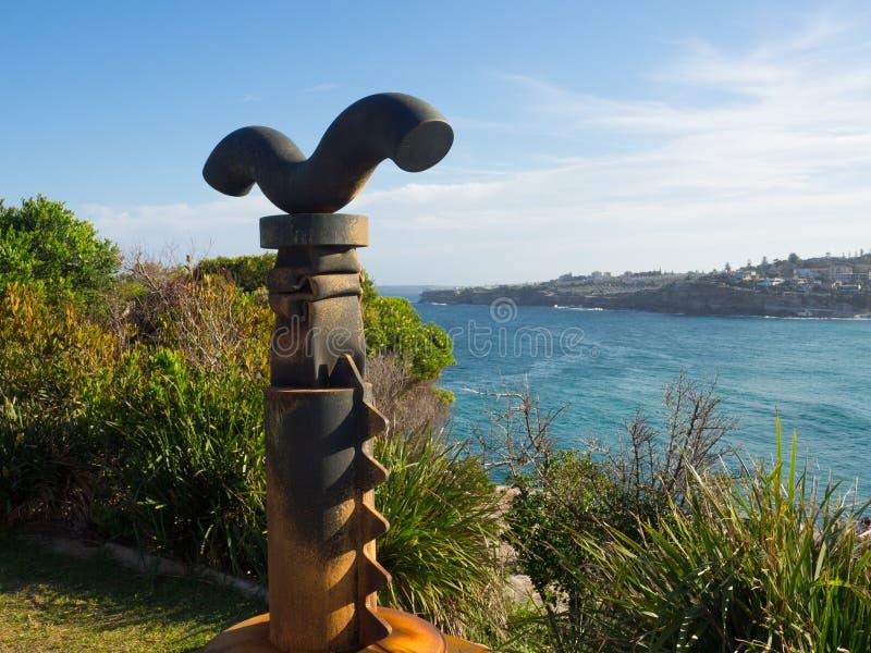 El 'guarda 'es ilustraciones esculturales de Michael le magnífico en la escultura por los acontecimientos anuales del mar libres  fotografía de archivo libre de regalías